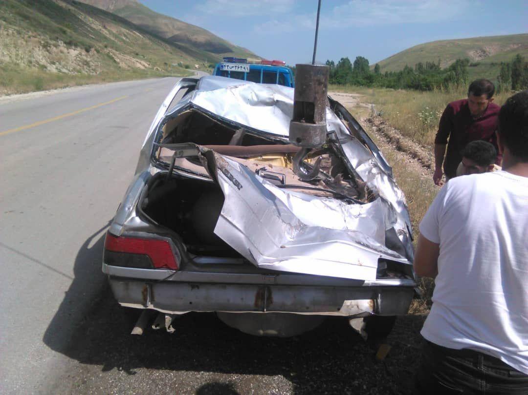 خبرنگاران حادثه رانندگی در خلخال چهار مصدوم برجای گذاشت