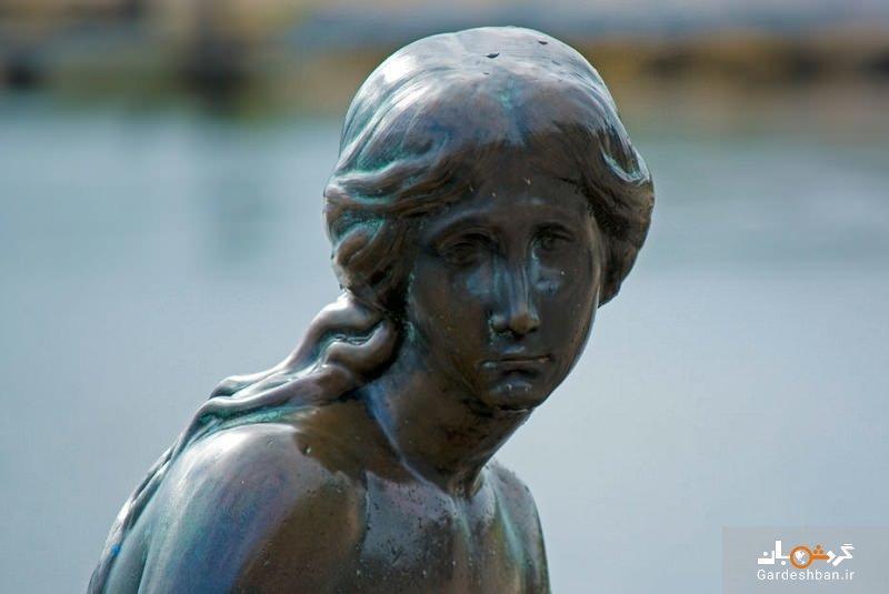 مجسمه پری دریایی کوچولو نماد شهر کپنهاگ دانمارک، عکس