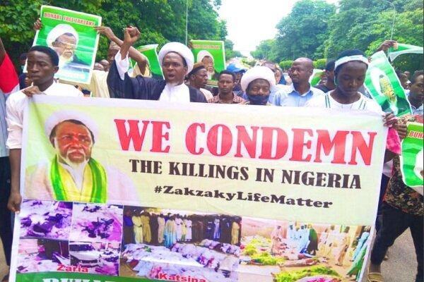 طرفداران شیخ زکزاکی تظاهرات اعتراض آمیزی در نیجریه برگزار کردند