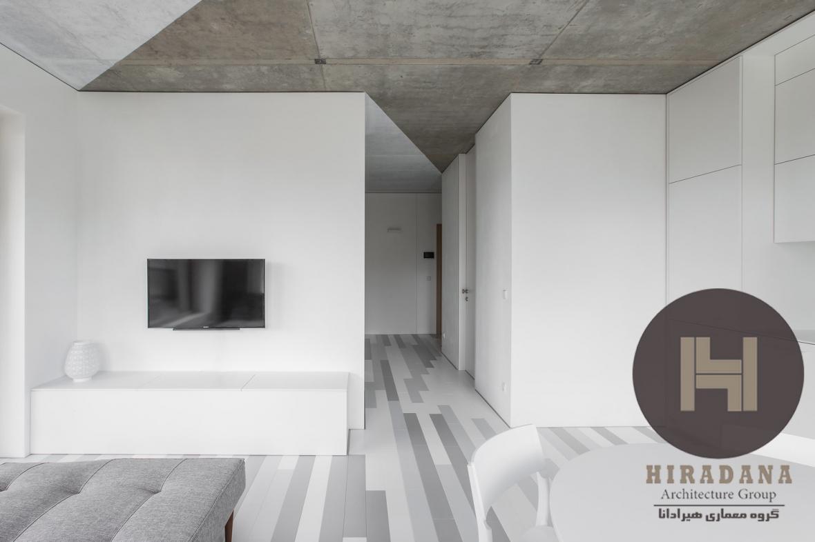 طراحی دکوراسیون داخلی آپارتمان سفید در کشور لیتوانی