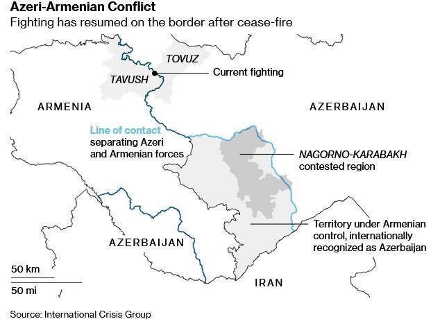 آتش بس جدید میان آذربایجان و ارمنستان دوام نیاورد